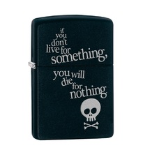 Зажигалка Zippo 29091 Жить ради, Live for Something Black Matte