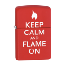 Зажигалка Zippo 28671 Жди огня, Keep calm and flame Red