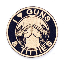 Патч Gun's and tittes, Tan