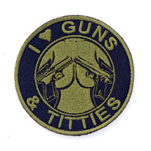 Патч Gun's and tittes, Olive