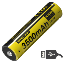 Аккумулятор Nitecore 18650R Li-ion PCB 3500 mAh USB