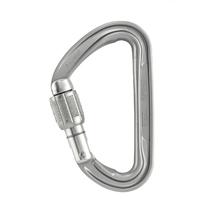Карабин PETZL Spirit Screw-lock D-образный муфтовый Keylock дюраль, Gray