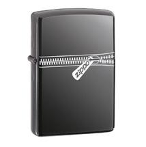 Зажигалка Zippo 21088 Молния, Zipped Black Ice