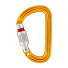 Карабин PETZL Sm`D Screw-lock D-образный муфтовый Keylock дюраль, Orange