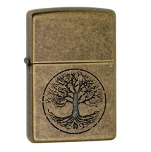 Зажигалка Zippo 29149 Древо, Antique Brass