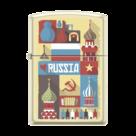 Зажигалка Zippo 216 Открытка из России, Russian Postcard