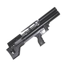 Винтовка пневматическая Krugergun PCP Снайпер буллпап редуктор, 300 мм, cal 5.5, передний вз, Black
