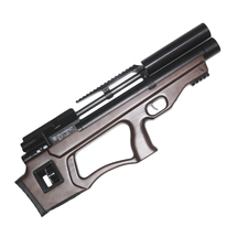 Винтовка пневматическая Krugergun PCP Снайпер буллпап прямоток, 300 мм, cal 6.35, Wood