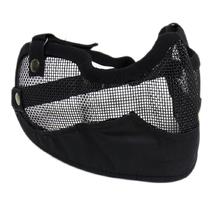 Маска защитная нижней части лица Tacgear Netting с защитой ушей сетчатая, Black