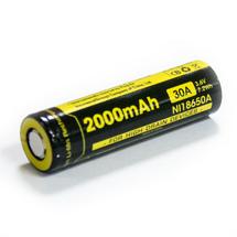 Аккумулятор Nitecore 18650 Li-ion IMR 2000 mAh (30A) плоский