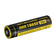 Аккумулятор Nitecore 18650 Li-ion IMR 2000 mAh (30A) выступающий
