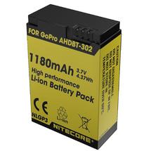 Аккумулятор Nitecore NLGP3 AHDBT-302 для GoPro Hero3