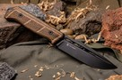 Нож Kizlyar Supreme Baikal D2 дерево, Wood/Black