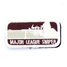 Патч ТВФ вышивка Major league sniper, Brown