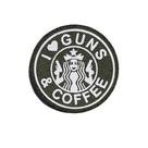 Патч SP печать Guns&Coffee, Olive