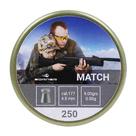 Пули свинцовые Borner Match  4.5 мм (250 шт)