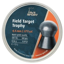 Пули H&N Field Target Trophy 4,5 мм 0,56 г (500 шт)
