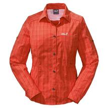 Рубашка женская Jack Wolfskin MOUNTAIN LONGSLEEVE WOMEN цвет 7294