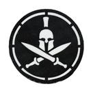 Патч SP маска Spartan Helmet, Black/White
