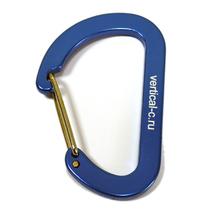 Карабин сувенирный D-образный большой, blue