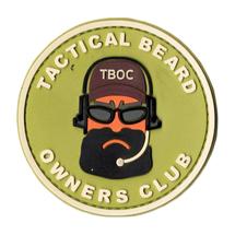 Патч PVCZ ПВХ Tactical Beard Owners Club, Olive
