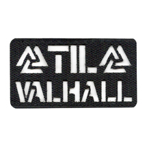 Патч SP трафарет Valknut Til Valhall, Black