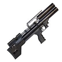 Винтовка пневматическая Krugergun PCP Снайпер буллпап прямоток, 300 мм, cal 6.35, передний вз, Black