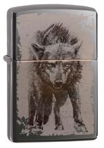 Зажигалка Zippo 49073 Wolf Design, Black Ice