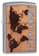 Зажигалка Zippo 49171 Woodchuck Explore Design, Street Chrome