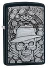 Зажигалка Zippo 49183 Gambling Skull, Black Matte