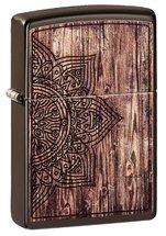 Зажигалка Zippo 49184 Wood Mandala Design, Brown Matte