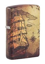 Зажигалка Zippo 49355 Pirate Ship Design, White Matte